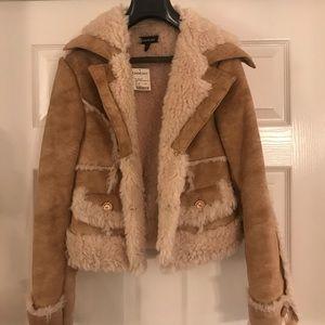 Bebe Shearling Jacket - NWT - Size M
